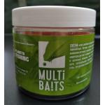 MULTIBAITS Bubble Gum (Бубль - Гум) насадочные растворимые (пылящие) бойлы 20мм банка 250гр.