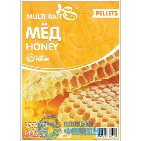 Пеллетс Multi Baits Honey (Мёд) 700гр