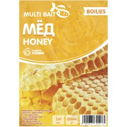 Multi Baits Honey (Мёд) вареные бойлы 20мм 1кг