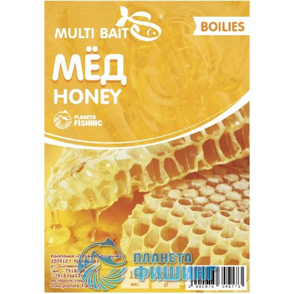 Multi Baits Honey (Мёд) вареные бойлы 20мм 1кг