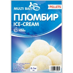 Пеллетс Multi Baits Ice-cream (Пломбир) 700гр