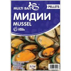 Пеллетс Multi Baits Mussel (Мидии) 700гр