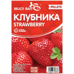 Пеллетс Multi Baits Strawberry (Клубника) 700гр